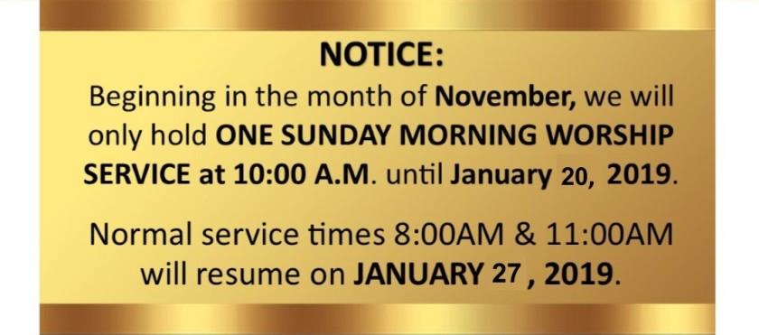 service notice slide