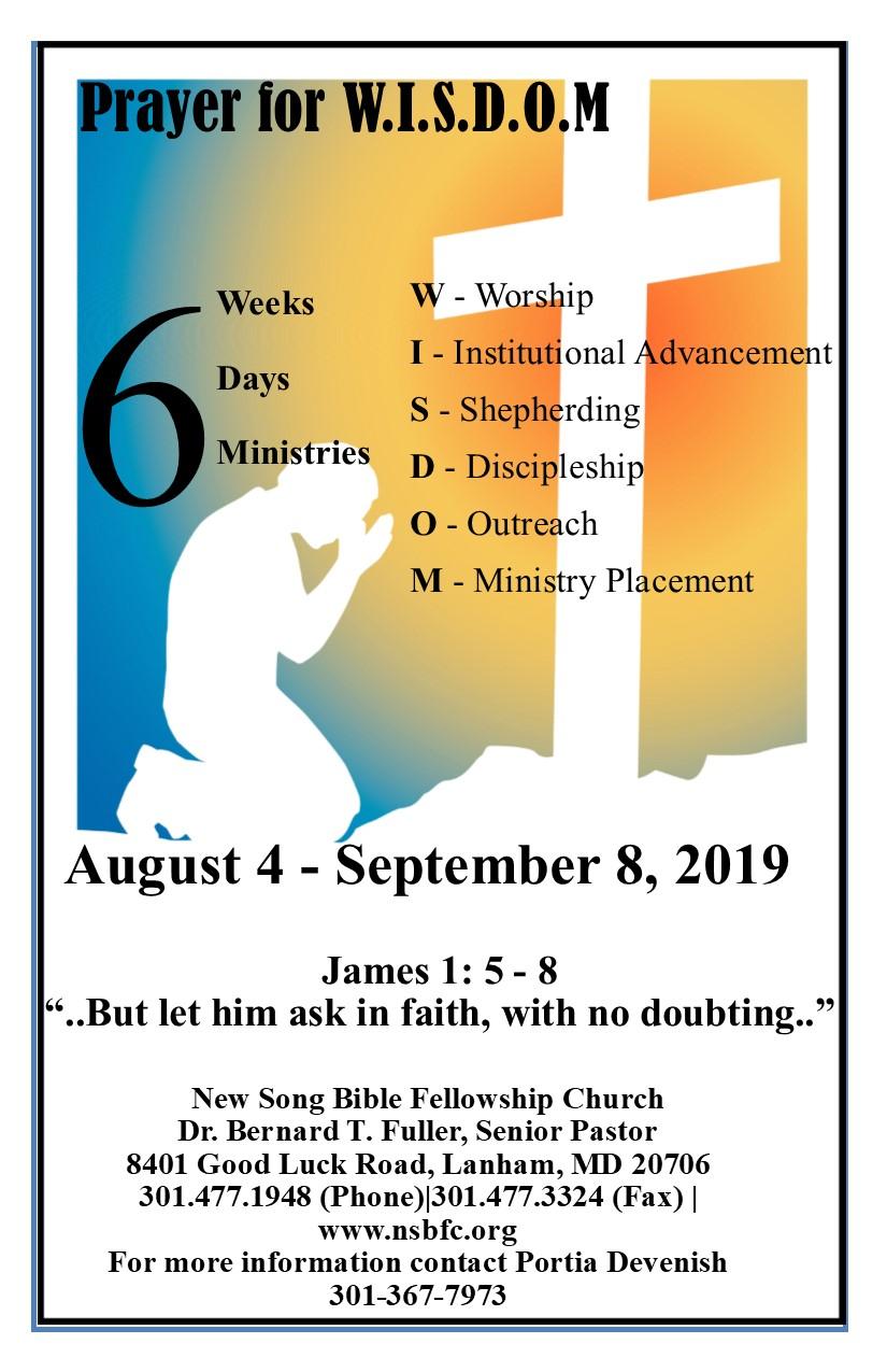 Prayer for WISDOM 3