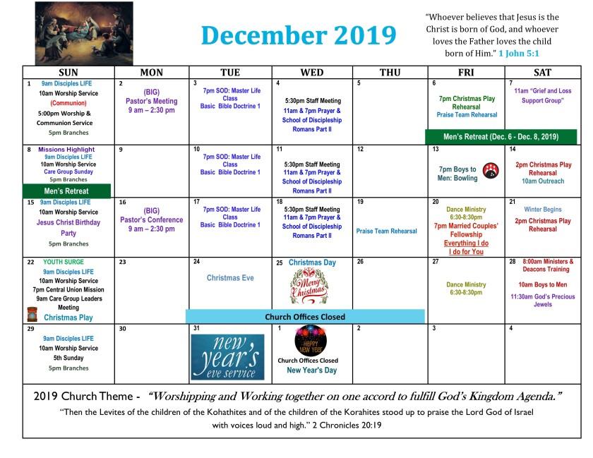 2019 December Calendar 3